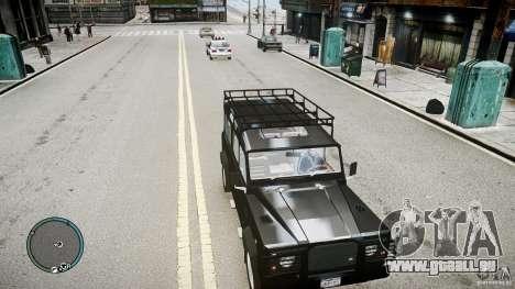 Land Rover Defender pour GTA 4 Vue arrière de la gauche