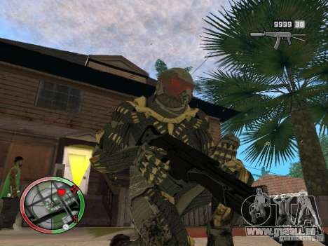 Sammlung von Waffen von Crysis 2 für GTA San Andreas achten Screenshot