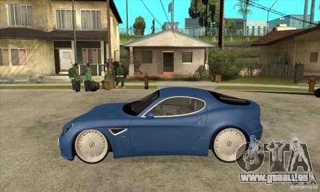 Alfa Romeo 8C Competizione für GTA San Andreas linke Ansicht
