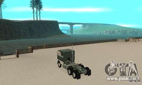 White Freightlinner 1966 für GTA San Andreas zurück linke Ansicht