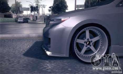 Scion Tc Street Tuning pour GTA San Andreas vue de côté