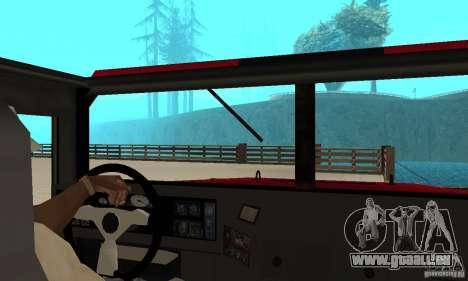 Hummer Civilian Vehicle 1986 pour GTA San Andreas vue de droite