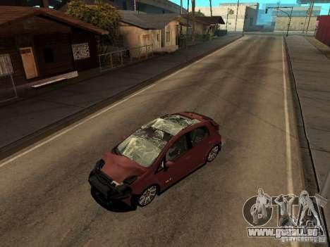 Fiat Punto T-Jet Edit pour GTA San Andreas sur la vue arrière gauche