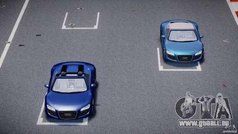 Audi R8 Spyder v2 2010 pour GTA 4 vue de dessus