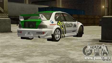 Mitsubishi Lancer Evolution IX RallyCross für GTA 4 linke Ansicht