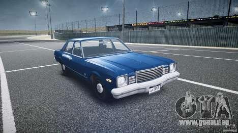 Dodge Aspen v1.1 1979 pour GTA 4 Vue arrière