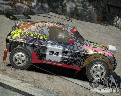 Mitsubishi Pajero Proto Dakar EK86 Vinyl 1 für GTA 4 Rückansicht