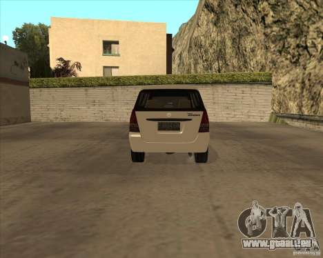 Toyota Innova für GTA San Andreas Rückansicht