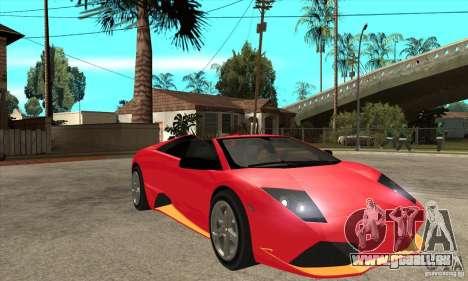 Lamborghini Murcielago LP650 pour GTA San Andreas vue arrière