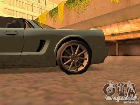 Infernus Revolution pour GTA San Andreas sur la vue arrière gauche