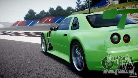 Nissan Skyline R34 v1.0 für GTA 4 Innenansicht