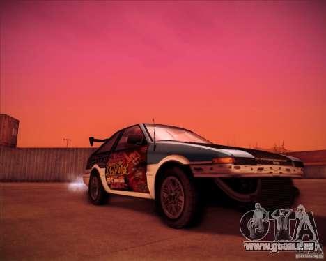 Toyota Corolla AE86 StreetAttack pour GTA San Andreas vue de droite
