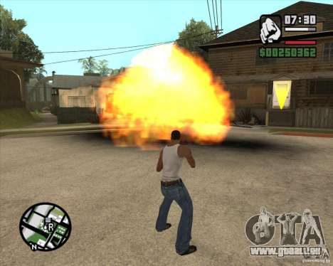 Souffle (version pour les ordinateurs portables  pour GTA San Andreas deuxième écran