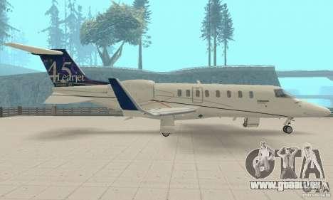 Bombardier Leardjet 45XR für GTA San Andreas rechten Ansicht