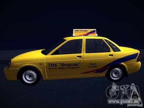 LADA Priora 2170 Taxi TMK Nachbrenner für GTA San Andreas Rückansicht