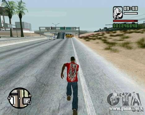 Springt auf der Autobahn in Las Venturase für GTA San Andreas dritten Screenshot