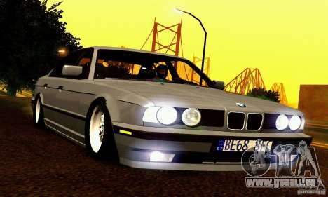 BMW E34 525i für GTA San Andreas Unteransicht
