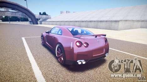 Nissan GT-R R35 2010 für GTA 4 hinten links Ansicht