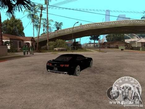 Chevrolet Camaro Concept für GTA San Andreas zurück linke Ansicht