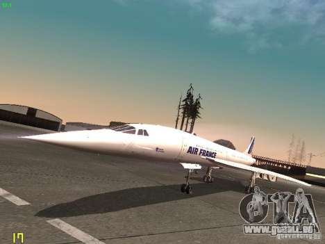 Aerospatiale-BAC Concorde Air France für GTA San Andreas