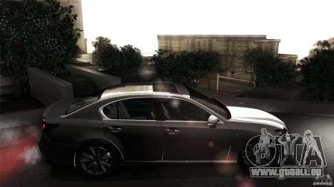 Lexus GS350F Sport 2013 für GTA San Andreas Rückansicht