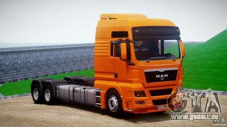 MAN TGX V8 6X4 pour GTA 4 Vue arrière