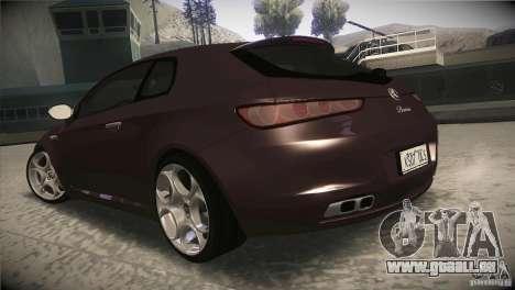 Alfa Romeo Brera Ti pour GTA San Andreas sur la vue arrière gauche