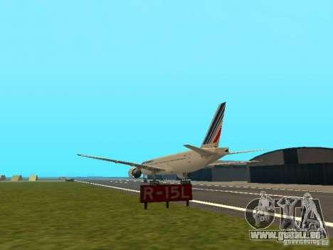 Boeing 777-200 Air France für GTA San Andreas zurück linke Ansicht