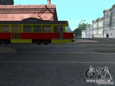 Tatra T3SU pour GTA San Andreas vue arrière