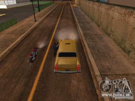 Moto saut dans ma voiture pour GTA San Andreas troisième écran