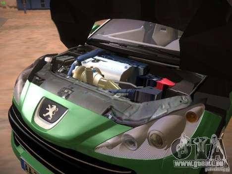 Peugeot RCZ 2010 pour GTA San Andreas vue intérieure
