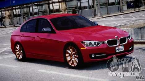 BMW 335i E30 2012 Sport Line v1.0 für GTA 4 Innenansicht