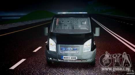 Ford Transit SWAT [ELS] für GTA 4 obere Ansicht