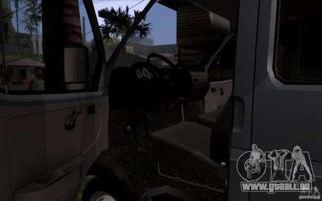Gazelle 33023 für GTA San Andreas Innenansicht