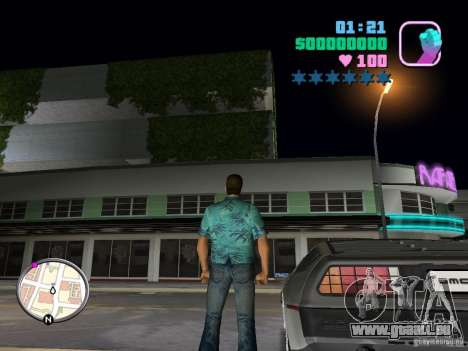 Delorean DMC-12 für GTA Vice City rechten Ansicht