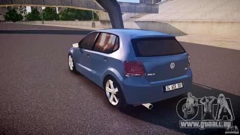 Volkswagen Polo 2011 pour GTA 4 Vue arrière de la gauche