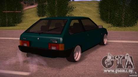 VAZ 2108 niedrige Classic für GTA San Andreas zurück linke Ansicht