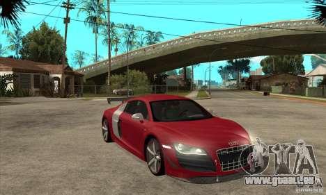 Audi R8 V10 v2 pour GTA San Andreas vue arrière