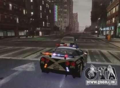 Chevrolet Corvette Z06 Police pour GTA 4 est un droit