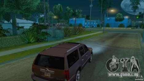 Cadillac Escalade ESV 2012 pour GTA San Andreas vue de droite
