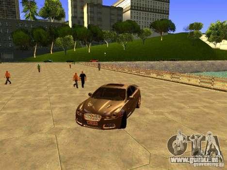 Jaguar XFR 2011 für GTA San Andreas Innenansicht