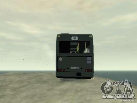 MAZ 103 Bus pour GTA 4 est une vue de l'intérieur