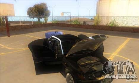 BMW 325i E46 v2.0 pour GTA San Andreas vue de dessus