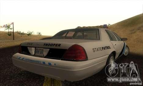Ford Crown Victoria Colorado Police für GTA San Andreas linke Ansicht