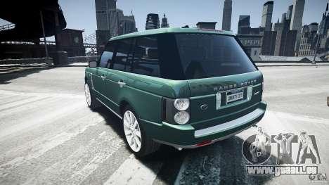 Range Rover Supercharged v1.0 pour GTA 4 Vue arrière de la gauche