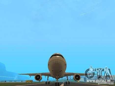 McDonell Douglas DC10 Continental Airlines pour GTA San Andreas vue arrière