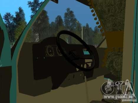 Gazelle 2705 für GTA San Andreas Rückansicht