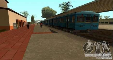 U-Bahn Typ Igel für GTA San Andreas linke Ansicht