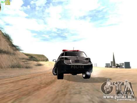 Lexus CT200H Japanese Police für GTA San Andreas Seitenansicht