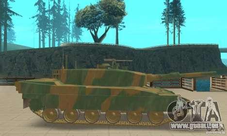JGSDF Type90 Tank pour GTA San Andreas sur la vue arrière gauche